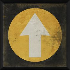 Arrow in Circle Framed Graphic Art