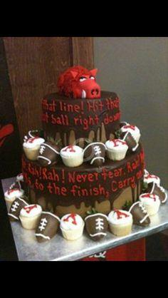 Our Grooms Razorback Cake