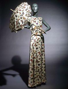Elsa Schiaparelli, silk evening dress, summer 1937