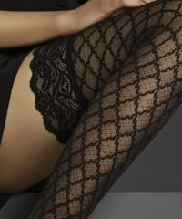 Hold ups from PoshTights.com. These are just great and come in x-tall for perfect if you have long, long legs.