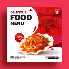 Food Web Design, Food Graphic Design, Food Poster Design, Menu Design, Brochure Food, Food Typography, Food Menu Template, Food Banner, Food Advertising