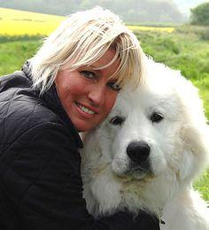 Thriller Author, SCCunningham, with co writer, editor, listener, storyline destresser, Pyrenees Mountain Dog 'Dali'    www.sccunningham.com