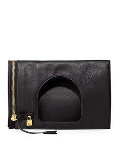 Alix Leather Padlock & Zip Shoulder Bag by TOM FORD at Bergdorf Goodman.