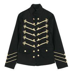Rememberclick / Napoleon Style Military Jacket  Men's Blazer Korea Wear P0000HRT #RememberclickBlackSlimfit #BasicJacket