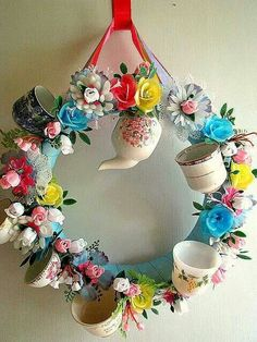 Bridal shower or Baby shower - celebration wreath