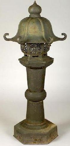 Antique Cast Iron Lantern | lighting, Japan, A cast iron garden lantern, Japan, early 20th century ...