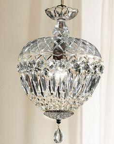 lead crystal pendant light ..