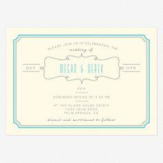 Blue Skies Wedding Invitations