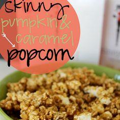 Ginger Snap Crafts: Skinny Pumpkin & Caramel Popcorn {snacking recipe} #skinnygirlsnacks