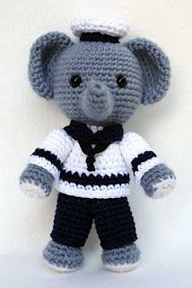 Elephant crochet Christina, you have to make this, it's gorgeous!! The link goes to a site with tinned of free crochet patterns, check it out!