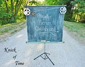 Projector Screen Chalkboard - Wedding and Photography Photo Prop Backdrop