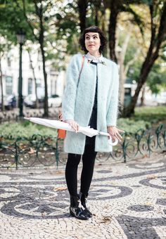 Candy coat by Lazzari and swan shirt by Red Valentino <3
