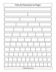 Get printable fraction strips free for your children to learn facts of fractions. Most of the children face difficulty in learning the concept of fractions 3rd Grade Fractions, Teaching Fractions, Fractions Worksheets, Free Math Worksheets, Third Grade Math, Math Fractions, Multiplication, Teaching Math, Comparing Fractions