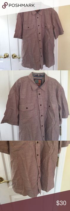 Outdoor Life men's short sleeve shirt XL NWOT Gear up for your next trek into the wild with this men's adventure shirt by Outdoor life. Made of  100% cotton, this shirt is designed with campers and anglers in mind. Two button down pockets, collar neck with button down.  New but without tag never been worn, from a clean, smoke and pet free home. Color: blue/red/white Outdoor Life Shirts Casual Button Down Shirts