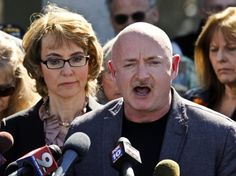 Mark Kelly and his wife, former congresswoman Gabby Giffords, testified at the Colorado state capitol in support of more gun control for that state on March 4. --> The next day he went out and purchased and AR-15.