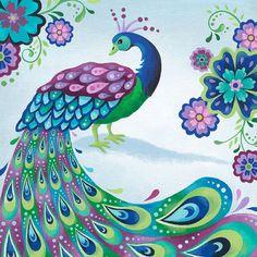Impresión del arte del pavo real 8 X 10