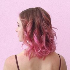 Dark Brown to Pink Ombre Hair