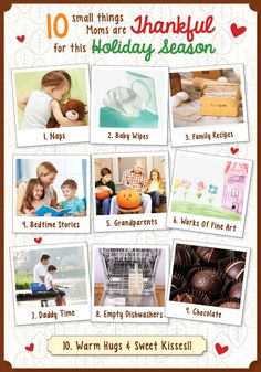 10 small things moms are thankful for!