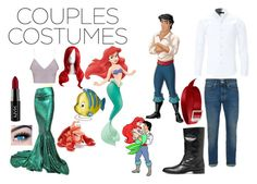 """""""Ariel & Eric"""" by moobearxoxo ❤ liked on Polyvore featuring Disney, NYX, MINX, WithChic, Topman, Yves Saint Laurent, Mountain Khakis and Danielle Nicole"""