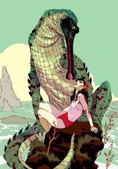 Overkill / Girl and a Lizard (Tomer Hanuka)
