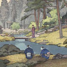 Toshi Yoshida - Linmoji Garden, 1941 (1911 - 1995)
