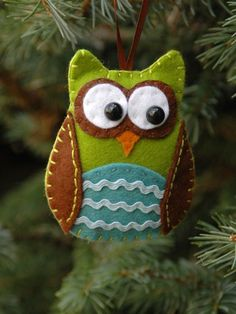 felt owl ornament tutorial
