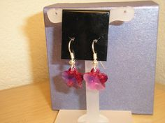 Genuine Swarovski crystal hot pink flower by CreationsbyMaryEllen, $7.99