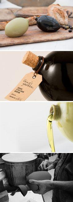 Marios Karystios Designs Custom Ceramic Bottle For Limited Edition Olive Oil