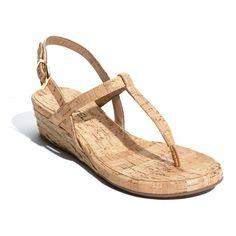 VANELi 'Kaffle' Wedge Sandal ($99) ❤ liked on Polyvore featuring shoes, sandals, women, vaneli shoes, vaneli sandals, padded sandals, wrap sandals and vaneli