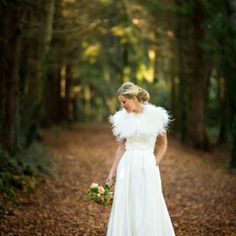 Inspired by the golden hues of Autumn, Elaine and Ken said I do under the falling leaves...