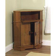 -Mission corner cabinet