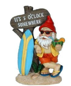 5:00 Somewhere Tropical Party Gnome Garden Statue Collectible Badges http://www.amazon.com/dp/B004QILECA/ref=cm_sw_r_pi_dp_FUVBvb1QR5SRC