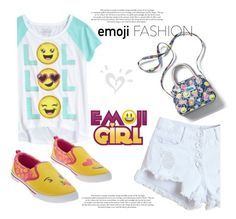 """""""LOL Emoji Girl"""" by clotheshawg ❤ liked on Polyvore"""