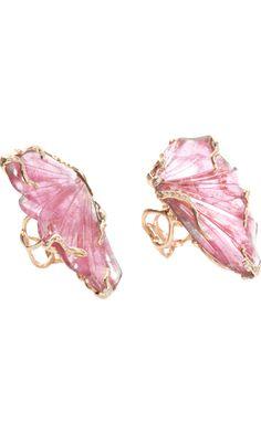 Lucifer Vir Honestus Pink Tourmaline Double Butterfly Ring