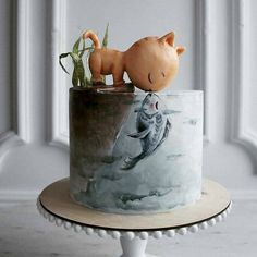 Elena, a pastry chef from Kaliningrad, Russia, has attracted more than fans by presenting her original complex cake design Elena, a Gorgeous Cakes, Pretty Cakes, Cute Cakes, Amazing Cakes, Crazy Cakes, Fancy Cakes, Bolo Original, Animal Cakes, Painted Cakes