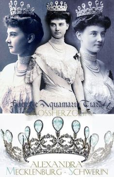 Triumph of Love.The royal wedding gift of the Grand Duke of Mecklenburg-Schwerin, when he married Princess Alexandra of Hanover-… Royal Crowns, Royal Tiaras, Tiaras And Crowns, Crown Jewels, Jewels 3, Headpiece Jewelry, Diamond Tiara, Grand Duke, Royals