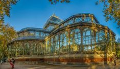 # (December 2015 at PM) The Crystal Palace is a glass and metal structure located in the Buen Retiro Park in Madrid. It was built in 1887 to exhibit flora a Glass Conservatory, Palace London, Hot House, Metal Structure, Kew Gardens, City Architecture, Crystal Palace, Barcelona Cathedral, Philippines