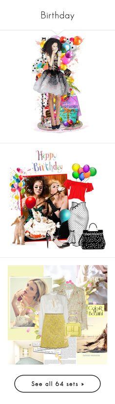 """Birthday"" by doozer ❤ liked on Polyvore featuring art, birthday, lastchance, Oris, Darling, Gucci, Sol Sana, Prada, tarte and Chicwish"