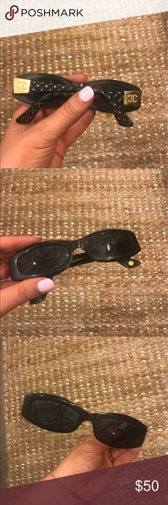 Vintage Chanel Sunglasses Authentic Chanel sunglasses my mom used to wear in the 90's! 100% authentic, do not have original documentation. Discoloration on nose piece but not visible when on! CHANEL Accessories Sunglasses