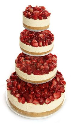 Luxury Champagne Strawberry Vanilla Cheesecake