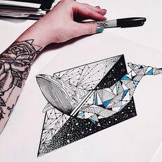 oh no not again w petunia Whale in the stars tattoo geometric -- tattoo design drawing Geometric Star, Geometric Tattoo Design, Whale Tattoos, Star Tattoos, Tattoo Drawings, Art Drawings, Tattoo Ink, Ink Illustrations, Trendy Tattoos