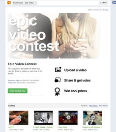 Introducing the Video Contest App for Facebook Pages