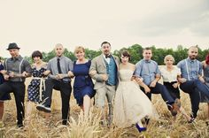 blue farm wedding