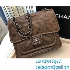 Chanel Vintage Messenger Bag Coffee 2021