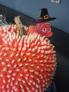 My students and I got creative for our school's decorating contest! Finding Nemo Pumpkin for Halloween Halloween Activities, Halloween Crafts, Holiday Crafts, Holiday Fun, Halloween Decorations, Halloween Ideas, Halloween Tutus, Halloween Stuff, Holiday Ideas