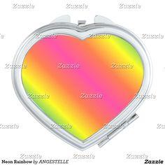 Neon Rainbow Compact Mirror