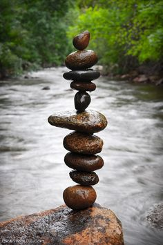 Stone Balancing - I love seeing these around my neighborhood. I may even have to try recreating this myself.