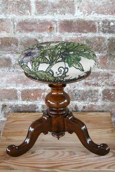 Timorous Beasties, stool in Opera Botanica fabric