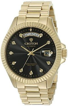 CROTON Men's 'HERITAGE' Quartz Stainless Steel Automatic Watch, Color:Gold-Toned (Model: CN307527YLBK) https://www.carrywatches.com/product/croton-mens-heritage-quartz-stainless-steel-automatic-watch-colorgold-toned-model-cn307527ylbk/ CROTON Men's 'HERITAGE' Quartz Stainless Steel Automatic Watch, Color:Gold-Toned (Model: CN307527YLBK)  #crotonwatches #diamondwatchesformen #mensdiamondwatches