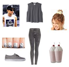 """Milkshakes!!!!!!!!!!"" by missswag224 ❤ liked on Polyvore featuring Monki, Topshop, ASOS, Vans, swag, 1d, NiallHoran and bf"